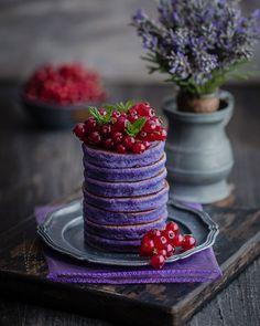 Gluten-Free Purple Pancakes No Flour Pancakes, Gluten Free Pancakes, Gluten Free Flour, Butterfly Pea Flower, Healthy Vegan Breakfast, Natural Food Coloring, Chocolate Pancakes, Banana Milk, Rice Flour