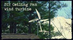 DIY Ceiling Fan Wind Turbine