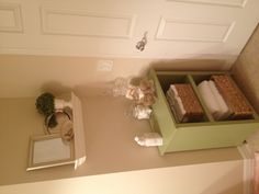 Guest Bathroom vignette with wall display