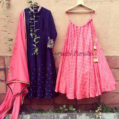 #indianwear #bridal #indiacolors #colorful #beautiful #lehenga #indian #wedding #ethenic #bride #bridesmaid #pink #blue