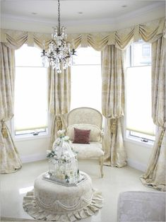 Living Room, Lovely Living Room Curtain Idea For Bay Window: Get The Right  Nuance