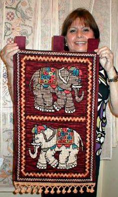 elefantes bordados - Buscar con Google