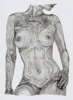 drawing art nude female pencil body portrait woman lines