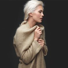 """I designed this sweater with one goal. You should want to wear it every day. It can be your coat or your cardigan depending on the weather. Either way, the brushed mohair – an iconic yarn at EILEEN FISHER - gives you drama and emotion, while the simple shape –a  rectangle – is wide enough and long enough to  drape and envelope you just so, making it a decidedly comfortable choice that will adapt to any occasion."" - Tipster Julie"