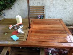 Oldtownhome Bringing Teak Furniture Back To Life This Takes Serious Elbow Grease But Painted Furnitureoutdoor Wood