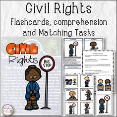Civil Rights Flashcards, Comprehension, and Tasks