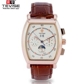 Fashion Men's Watch TEVISE Automatic Movement Wrist Watch Leather Men Watch of TV06, $38.75 | DHgate.com