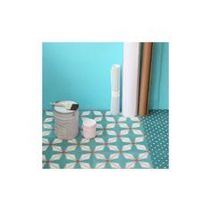 carreau de ciment h lium vert canard petit pan salle de bains pinterest ciment. Black Bedroom Furniture Sets. Home Design Ideas