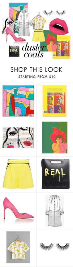 """""""BE-POPular"""" by pebbe ❤ liked on Polyvore featuring Alan Fears, Andy Warhol, Oliver Gal Artist Co., A.L.C., Gucci, Manolo Blahnik, Miu Miu, WithChic and Velour Lashes"""