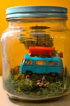 Mini vacation in a jar