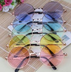 Candy Colored Circle Sunglasses John Lennon Inspired Retro So Kawaii Babe! Sunglasses For Your Face Shape, Round Sunglasses, Sunglasses Women, Circle Sunglasses Mens, Retro Sunglasses, Discount Sunglasses, Summer Sunglasses, Circle Glasses, Cute Glasses