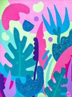 Maude is an art print reproduction of an acrylic painting by Chicago-based artist Ponnopozz (Adrianne Hawthorne). Graffiti Art, Painting Inspiration, Art Inspo, Arte Elemental, Art Rose, Plant Art, Art Et Illustration, Art Plastique, Pattern Art
