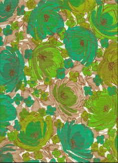 Green flowers - reminds me of a skirt I made in home ec.  Triggered my memory.