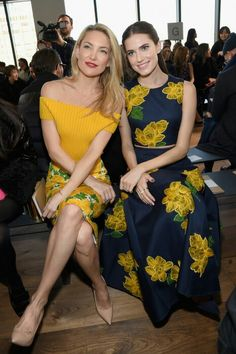 Kate Hudson & Allison Williams debut Michael Kors Inspired Looks for Spring during NYFW at the  Michael Kors Fashion Show