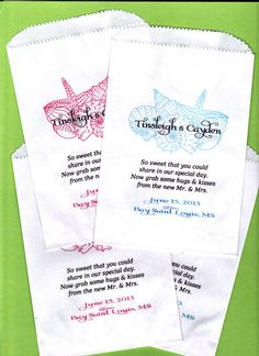 Wedding Candy Buffet Bag Beach Wedding Favor Bags by wreathartist, $30.00