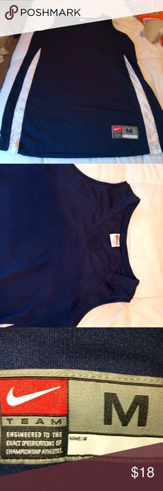 Nike men's shirt New without tag. Dark blue and white. Med size 8-10. Sleeveless Nike Shirts Tees - Short Sleeve
