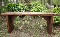Bench/ Coffee Table / Reclaimed wood /Rustic / Solid Black Walnut/ Rough sawn. $125.00, via Etsy.