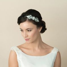 Ritz art deco bow headpiece
