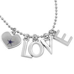 Touch by Alyssa Milano Dallas Cowboys Love Necklace with Heart Team Logo