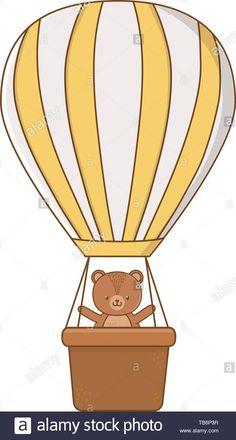 Balloon Cartoon, Hot Air Balloon, Balloons, Cute Animals, Bear, Graphic Design, Google, Illustration, Image