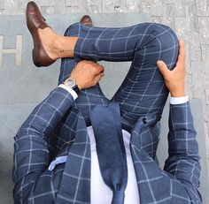@r3zap3rz in a windowpane suit Follow @dadthreads for more style inspiration