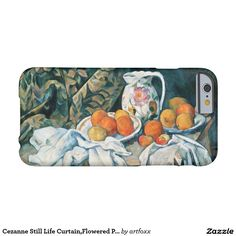 Cezanne Still Life Curtain,Flowered Pitcher,Fruit Barely There iPhone 6 Case