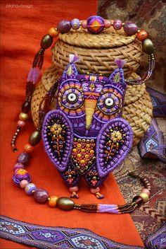 """Кошелёк """"Сова"""" - орнамент,сова,филин,кошелёк,аксессуар,этника,фиолетовый <3"""