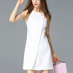 BIG PINS WHITE SLEEVELESS MINI DRESS  Old: $66.73 Now: $39.68