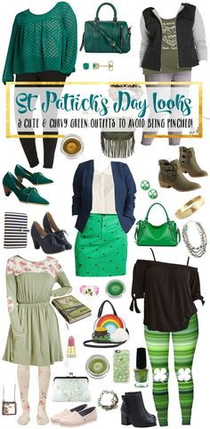 Want to look super cute and rock some green for St. Here are some adorable looks for all kinds of body types. Plus-Size and standard sizes all in all. Patrick's Day Looks to Keep You From Getting Pinched St Patrick's Day Outfit, Outfit Of The Day, Mom Outfits, Fashion Outfits, Womens Fashion, Fashion Advice, Fashion Ideas, Celebrity Look, Fashion Pictures