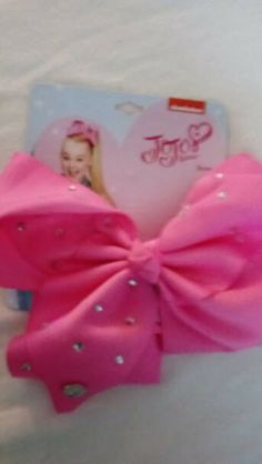 JOJO SIWA LICENSED LARGE BLACK HAIR BOW RHINESTONES CHILD GIRL FASHION ACCESSORY