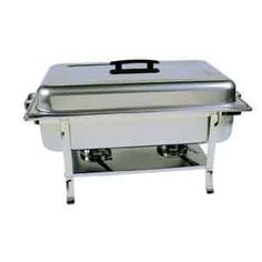 Continental Full Size Chafer $52.49   18/8 stainless steel. Welded Legs, Bakelite handles, water pan, food pan, fuel holder(s), dome cover and stand.   SKU: CF10101 CHAFERS - CATERING