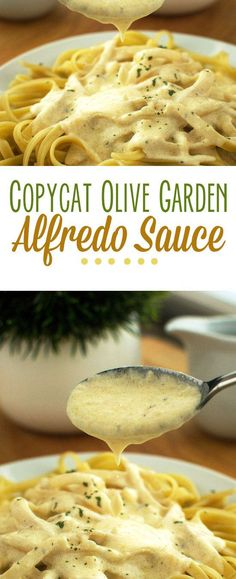 Copycat Olive Garden Alfredo Sauce - It didn't taste like Olive Garden. It was okay, but didn't have much flavor. I needed to doctor it and still wasn't as good as Olive Garden. Will try a different one next time. Italian Recipes, New Recipes, Favorite Recipes, Healthy Recipes, Recipies, Healthy Foods, Pasta Recipes, Dinner Recipes, Cooking Recipes
