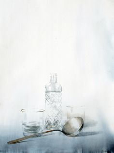 Nono García - bottle of anise - watercolor on paper Watercolor Artists, Watercolor And Ink, Watercolor Illustration, Watercolor Lesson, Watercolour Paintings, Watercolours, Painting Still Life, Still Life Art, Anime Comics