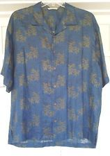 Tommy Bahama Hawaiian Leaf Print Linen Shirt - XL Extra Large - Free Shipping!