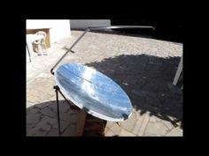 Forno Solar de Antena Parabólica - DIY Satellite Dish Solar Cooker