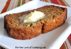 """<p>Sometimes you just want plain banana bread... this one is loaded with banana which is why it has a double banana name!</p> <p><a href=""""http://www.fortheloveofcooking.net/2011/02/banana-banana-bread.html""""><strong>RECIPE HERE:"""