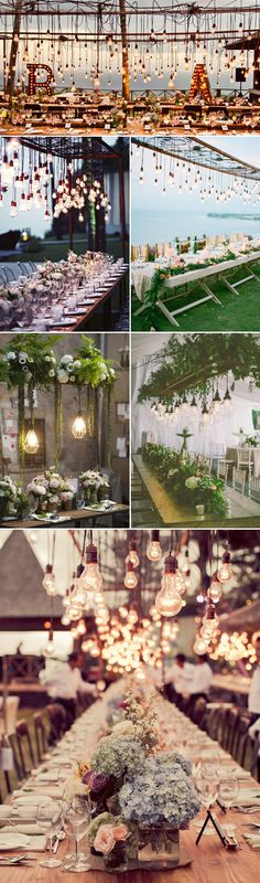 Beauty from Above – 27  Romantic Hanging Centerpiece Ideas - Suspended Lights