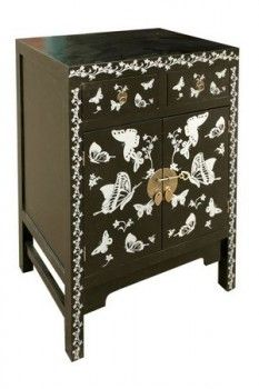 Silver Butterfly Cabinet