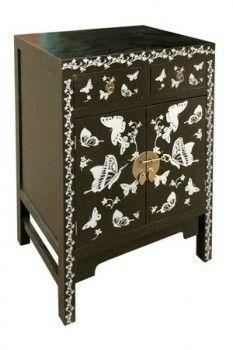 Silver Butterfly Cabinet
