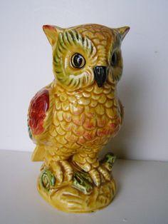 Enesco Japan Ceramic Owl Planter and Antique Owl Figurine. $15.99, via Etsy.