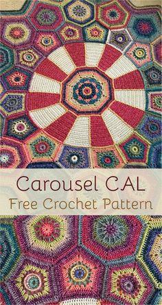 Carousel CAL - Free Crochet Pattern #crochet #crochetlove #motif #crocheting