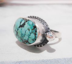 Free Spirit Turquoise Ring  // Sterling Silver by TarnishedAndTrue