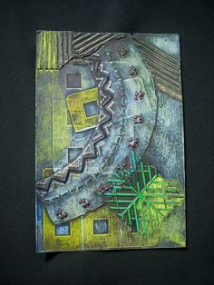 Embroidery collograph plate by Mary Gray McGee, via Flickr