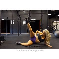 Burn your abductor (outer Glute) and train your lower abs at the same time