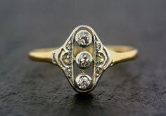Art Deco Diamond Ring  Antique 18ct or & par AlistirWoodTait, £675.00