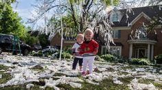 Blackhawks fans celebrate outside coach's Hinsdale home