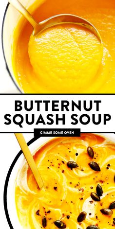 The BEST Butternut Squash Soup recipe! It's a super cozy and delicious dinner recipe, and made with healthy, seasonal ingredients you can feel great about. Easy to make in the Instant Pot (pressure cooker), Crockpot, or on the stovetop. Instant Pot, Fall Recipes, Soup Recipes, Cooking Recipes, Healthy Recipes, Xmas Recipes, Healthy Chef, Healthy Soup, Best Butternut Squash Soup