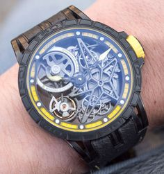 Roger Dubuis Excalibur Spider Pirelli Automatic Skeleton Watch Hands-On