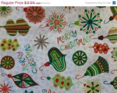 50% OFF New Year SALE - Cotton Fabric, Home Decor, Craft,Christmas Fat Quarter, Merry Christ-Moose by Hoffman of Ca, Fast Shipping