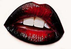 black & red lips
